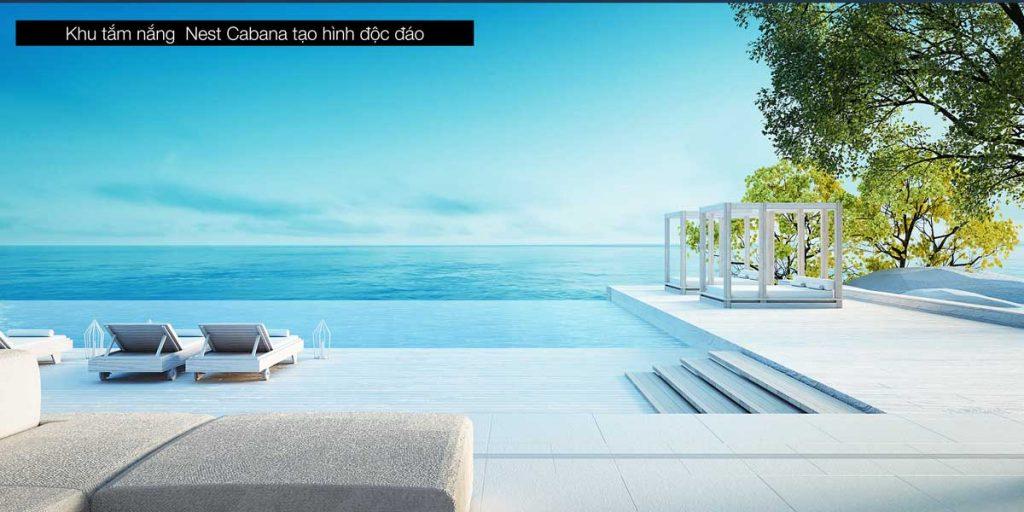 Chill cùng khu tắm nắng Nest Cabana