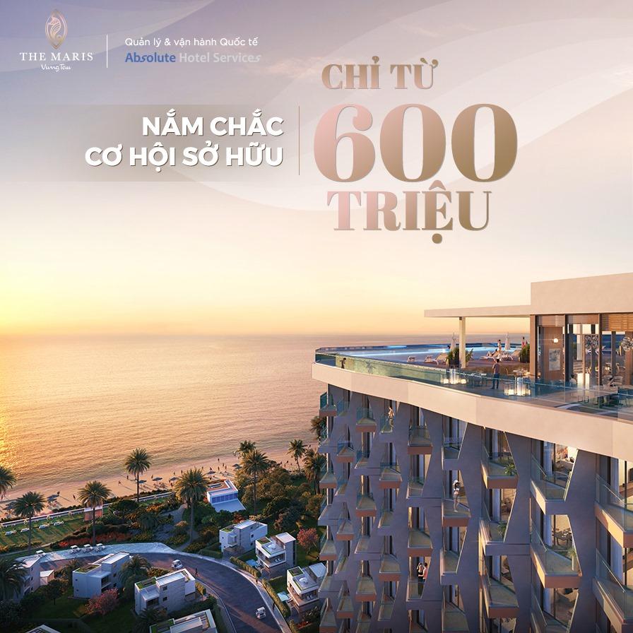 Chỉ cần 600 triệu là bạn đã sở hữu ngay căn hộ du lịch tại The Maris