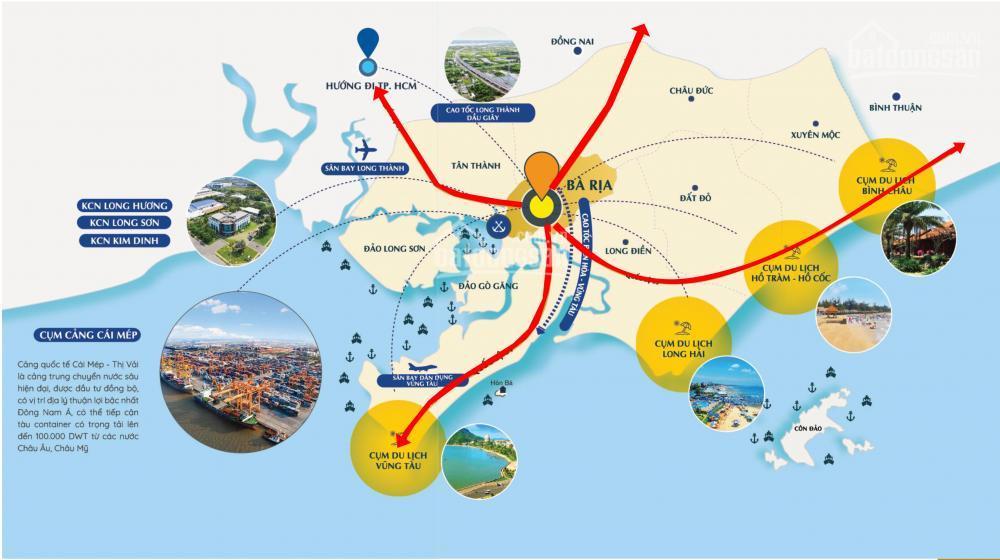 Các cụm du lịch, cảng & khu công nghiệp tại tỉnh Bà Rịa - Vũng Tàu