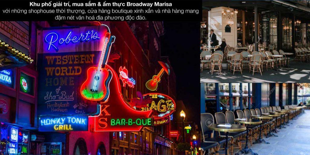 Khu phố giải trí, mua sắm & ẩm thực Broadway Marisa