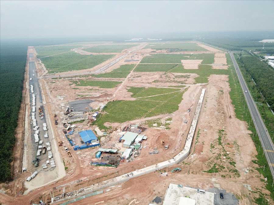 Công trình xây dựng hạ tầng kỹ thuật khu Tái định cư Lộc An - Bình Sơn phục vụ dự án sân bay Long Thành đang được gấp rút thi công