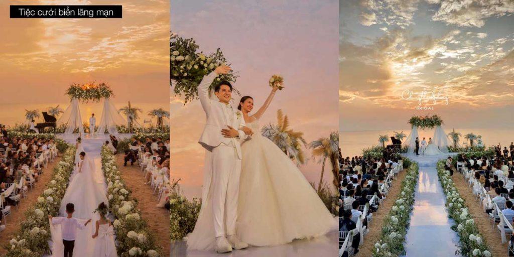 Khu vực tổ chức lễ cưới biển lãng mạn