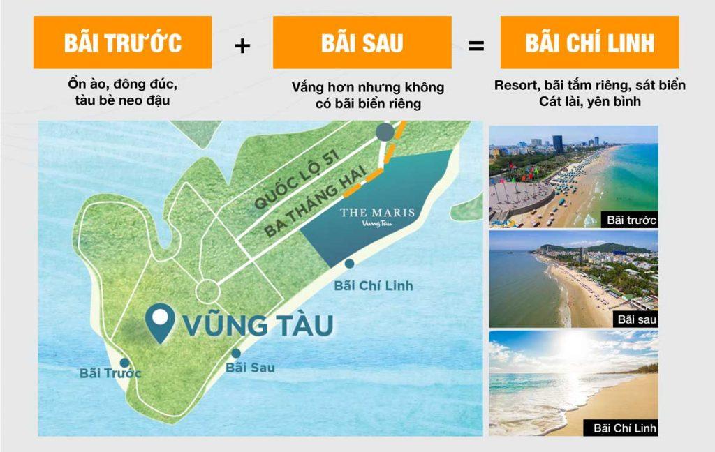 Bãi Chí Linh xinh đẹp với bãi cát dài thoai thoải