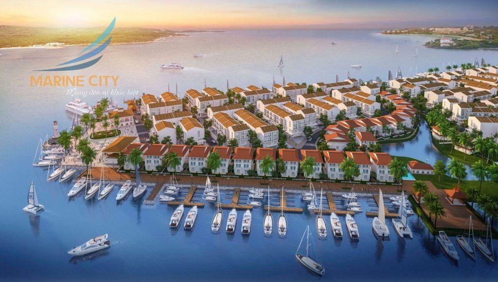 Phối cảnh dự án Marine City với các mặt giáp biển
